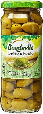Azeitonas Bonduelle Verdes Com Caroço PL 320g / PD 200g