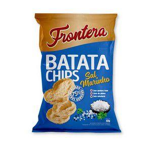 Pack 4 Batata Chips Sal Marinho Frontera 40g 31/08/2020