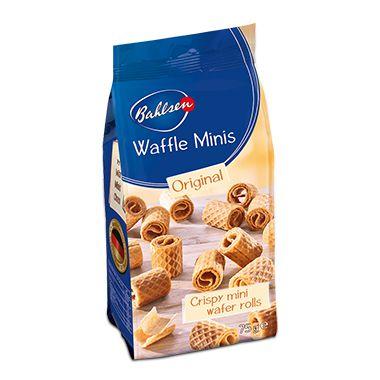 Biscoito Bahlsen Waffle Minis Original 75g