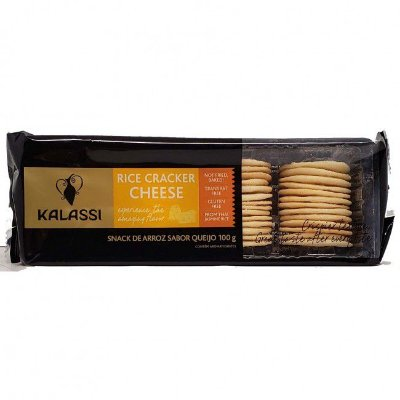Snack Kalassi Salgado Rice Crackers Cheese 100g