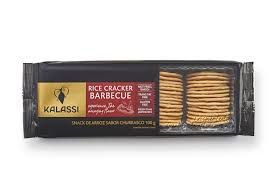 Snack Kalassi Salgado Rice Crackers Barbecue 100g