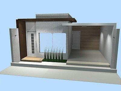 Casa com três quartos e uma suíte