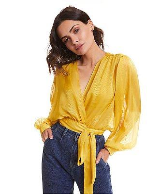 Conjunto cropped bluse citron