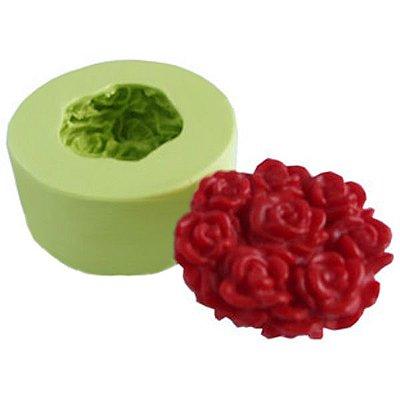Molde de Silicone Arranjo de Rosas