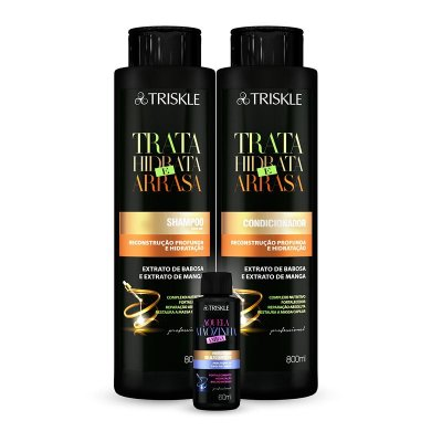 Kit Triskle Trata, Hidrata e Arrasa 1600ml