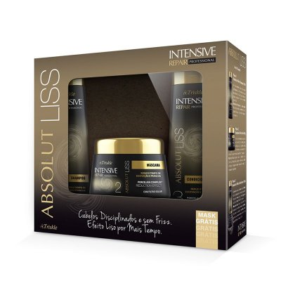 Kit Triskle Intensive Absolut Liss (Shampoo e Condicionador 350ml) + Máscara 300g