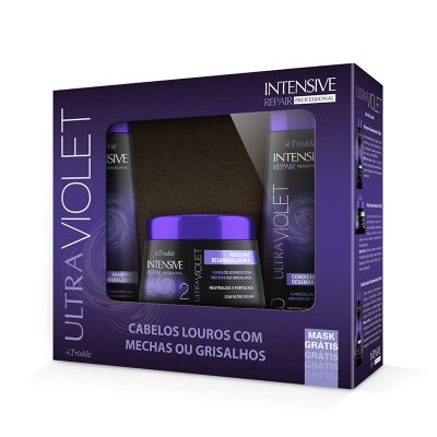 Kit Triskle Intensive UltraViolet (Shampoo e Condicionador 350ml) + Máscara 300g