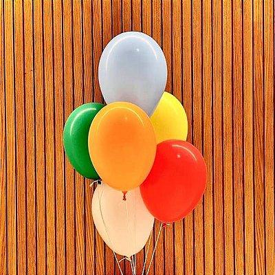 6 Balões de Gás Hélio