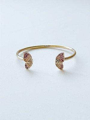 Bracelete Borboleta com Zircônias - SEMIJOIA