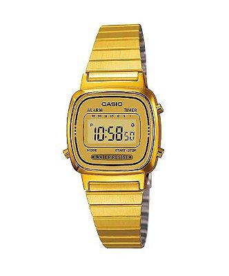 Relógio Casio Vintage Digital Dourado
