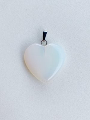 Pingente Coração Opalina Bijuteria