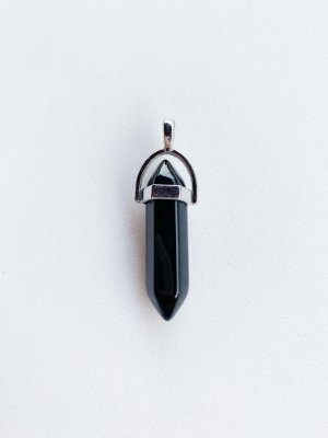 Pingente Obsidiana Negra Bijuteria