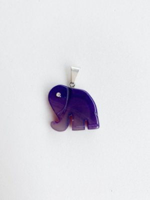 Pingente Elefante Ágata Bijuteria