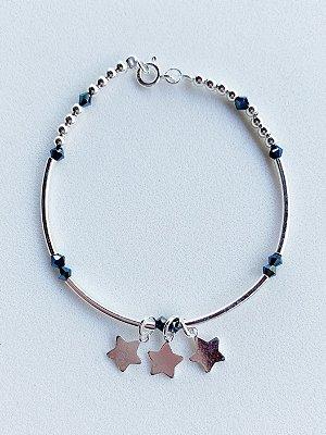 Pulseira Estrela Prata