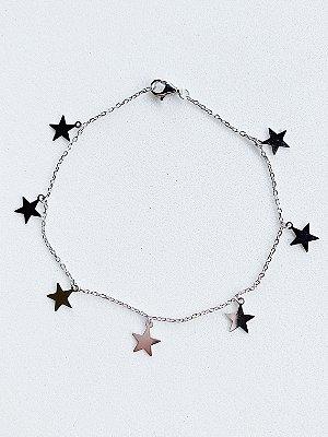 Pulseira Estrela Prata Rodinada