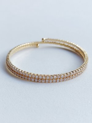Bracelete Zircônia Semijoia