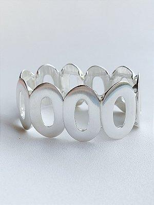 Bracelete Oval Banho de Prata