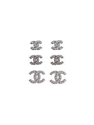 Brinco Trio Chanel Semijoia