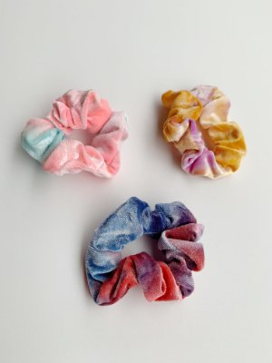 Scrunchie Tie Dye Veludo