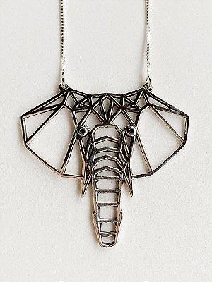 Colar Elefante Prata