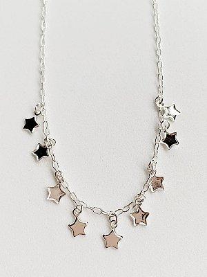 Choker Estrela de Prata