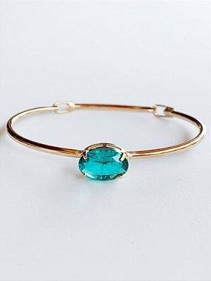Bracelete Cristal Oval Semijoia
