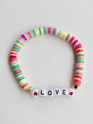 Pulseira Fimos Coloridos Love