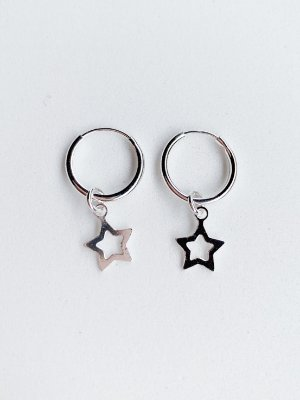 Argola Estrela de Prata