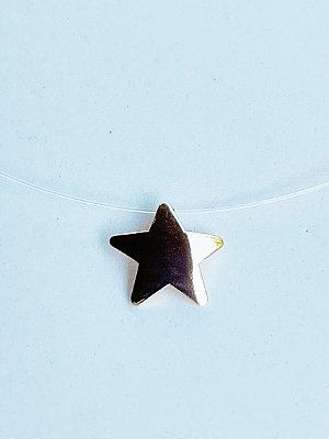 Colar Invisível Estrela Semijoia