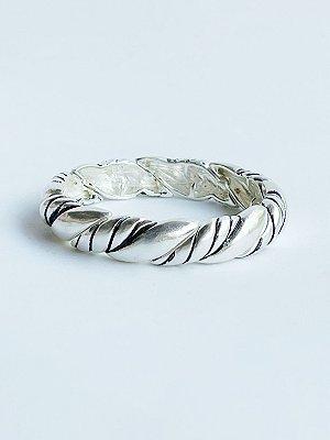 Bracelete Corda Banho de Prata
