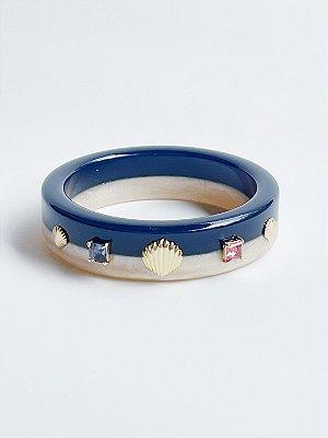 Bracelete Concha Resina