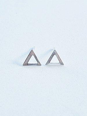 Brinco Triângulo de Prata