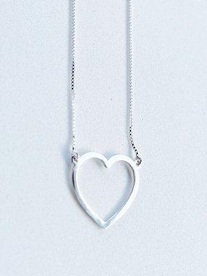 Colar Coração de Prata