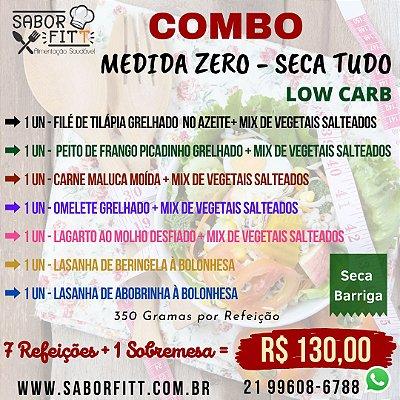 Medida Zero - Low Carb - 07 Refeições + 1 Sobremesa