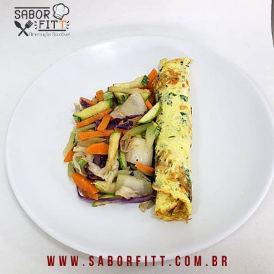 Omelete + Mix de Vegetais Salteados - Low Carb (350 Gramas)