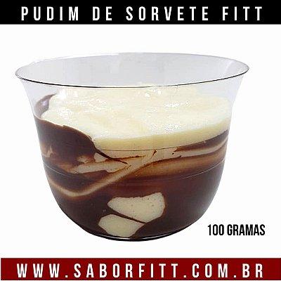 Pudim de Sorvete + Calda de chocolate 70%