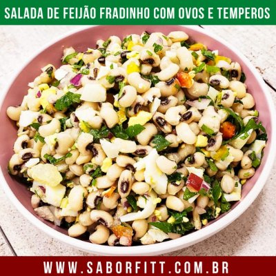 Salada de Feijão Fradinho com Ovos e Temperos (250 Gramas)
