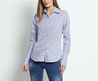 Camisa básica com punho largo