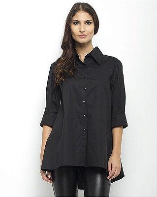 Camisa Social Trapézio - Preto