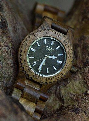 Relógio de MADEIRA - DATE ARMY