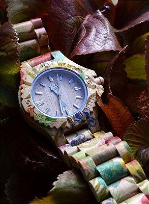Relógio de MADEIRA - DATE FLOWER