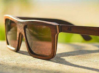 MALUNGO Grande Escuro (15,2cm) - Óculos de madeira