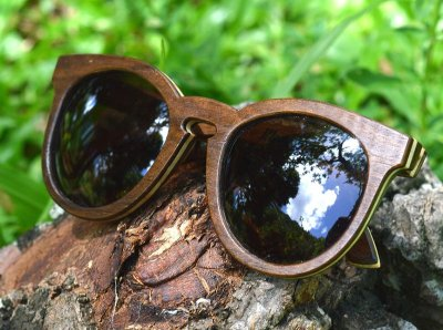 SEREIA Mini Escuro - Óculos de madeira