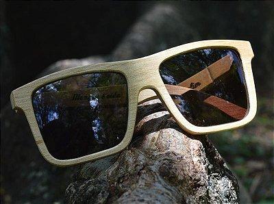 MALUNGO Claro (14cm) - Óculos de madeira