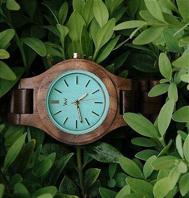 Relógio de Madeira - ANTEA NUT MINT