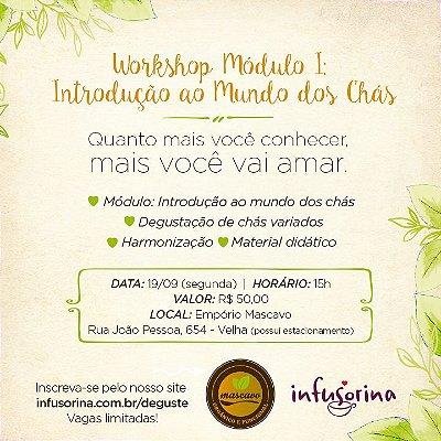Degustação e Workshop de Chás ♥ Blumenau/SC - 19/09 - 19h