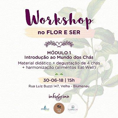 WORKSHOP MÓDULO I ♥ Introdução ao Mundo dos Chás | 30/06/2018 | BLUMENAU/SC