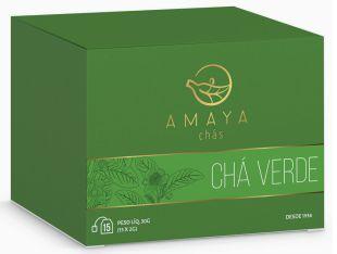 Chá Verde Nacional Amaya - 15 Sachês (2g)