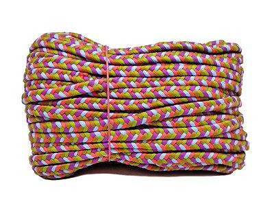 Trança chata - poliéster 12mm (rolo de corda c/30mts)