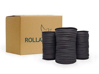 Atacador/cadarço chato 6mm - Poliéster (Caixa c/10 a 36 rolos)